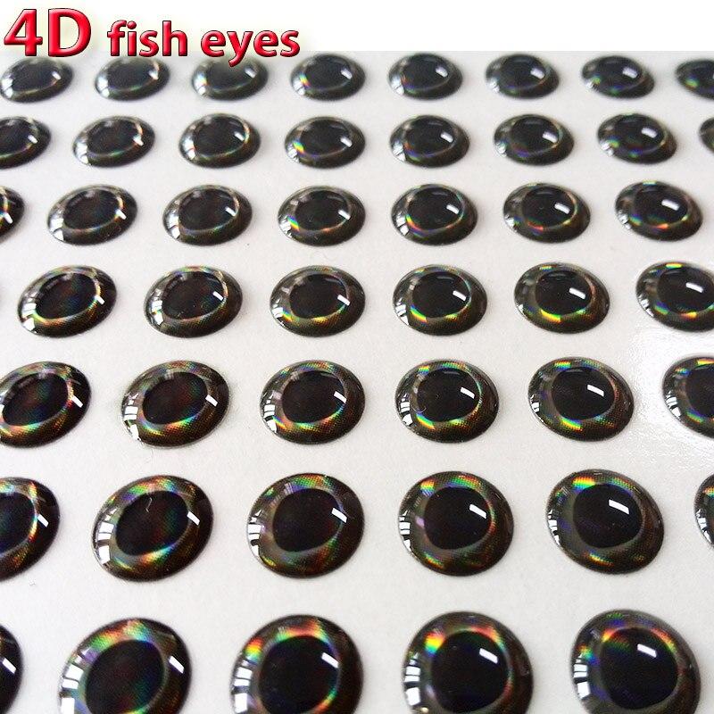 2017novo olho de isca de pesca com olhos de peixe, olho realista holográfico, material de gravação de moscas, tamanho 3mm-12mm, quantidade 300 pçs/lote
