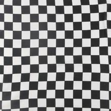 Hip Hop Square Scarf 55cm*55cm Black White Plaid Check Bandana Headwear Scarf Printed For Women/Men/Boys/Girls