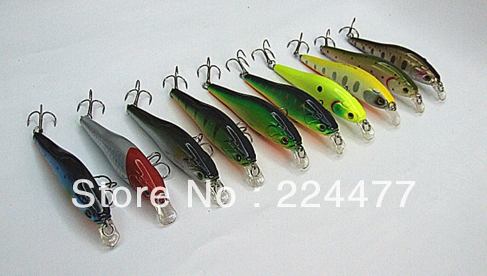 8cm /10g Minnow Bait Fishing Lure Hard Plastic False Bait  Game Lure China Hook Floating for Fresh Water Fishing