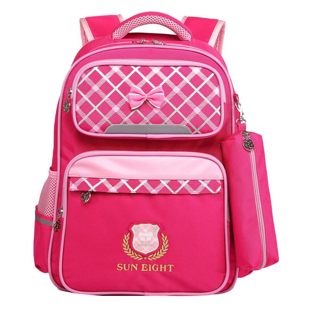 Детский водонепроницаемый ортопедический школьный рюкзак для девочек, мультяшный рюкзак для учебников, дорожные сумки, Детские рюкзаки