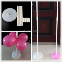 120 white pink balloon column base stick plastic poles balloon arch wedding decorations event party supplies garden decorations
