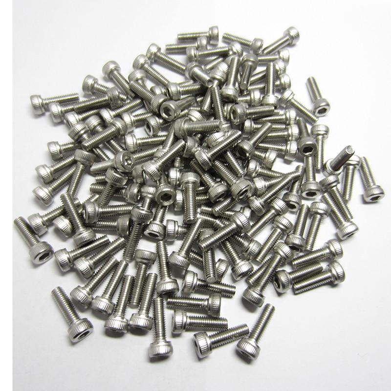 Купить с кэшбэком 20/10PCS M2.5 M3/M4/M5/M6 DIN912 304 Stainless Steel Hexagon Socket Head Cap Screws Inner Hex Socket Bicycle Bolt Metric Thread