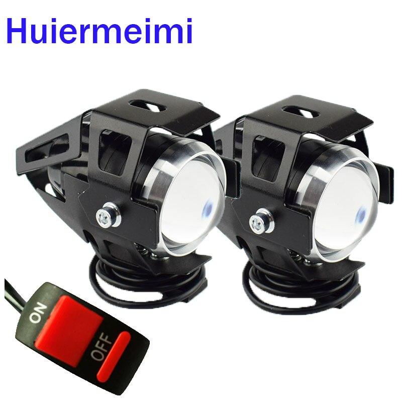 2 uds. Accesorios de foco de motocicleta, faros de motocicleta brillantes Led 125W U5, lámpara auxiliar para conducción de Moto, foco de luz antiniebla delantero