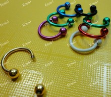 300pcs wholesale Jewelry lots Labret Lip Body Pierce Nipple Navel Belly Eyebrow Bar Rings free shipping RL337
