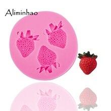 B0107 moule Mini fraise Silicone   Sugarcraft dessert bonbons, moules à chocolat en argile, Fondant gâteau outils de décoration