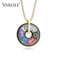 varole new style necklace for woman bohemia classic vintage ethnic necklaces pendants for women suspensions round snake chain