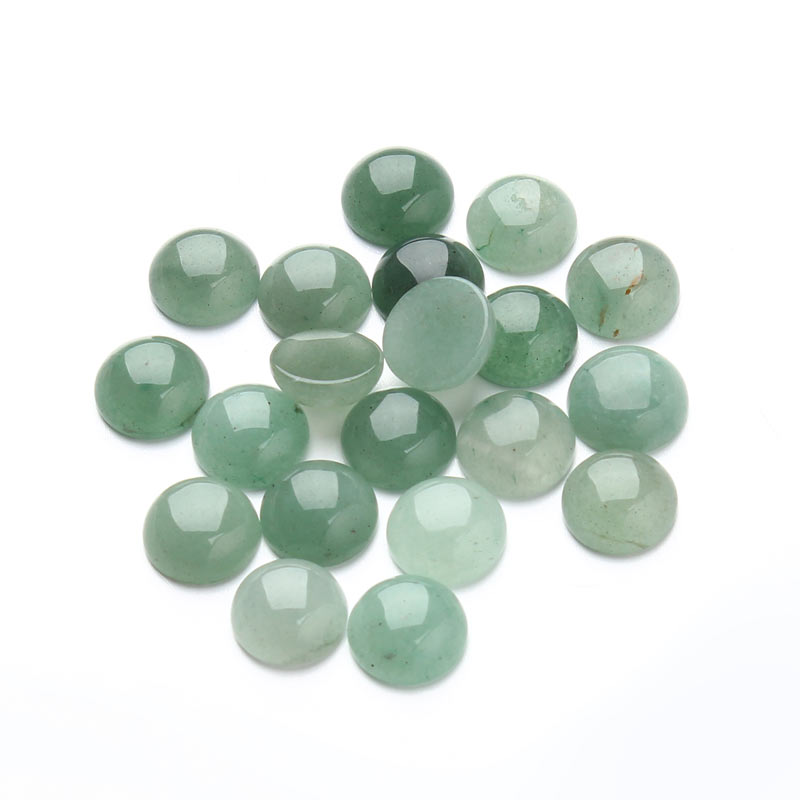 20 шт./лот 6/8/10/12 мм AAAA качественный Натуральный Камень зелёный авантюрин Круглые круглые кабошоны бисер выбрать размер F3104