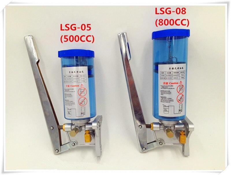 Bomba de lubricación Manual de 6mm de salida, 500cc, bomba de grasa lubricante operada a mano, unidad lubricante para sistema de lubricación