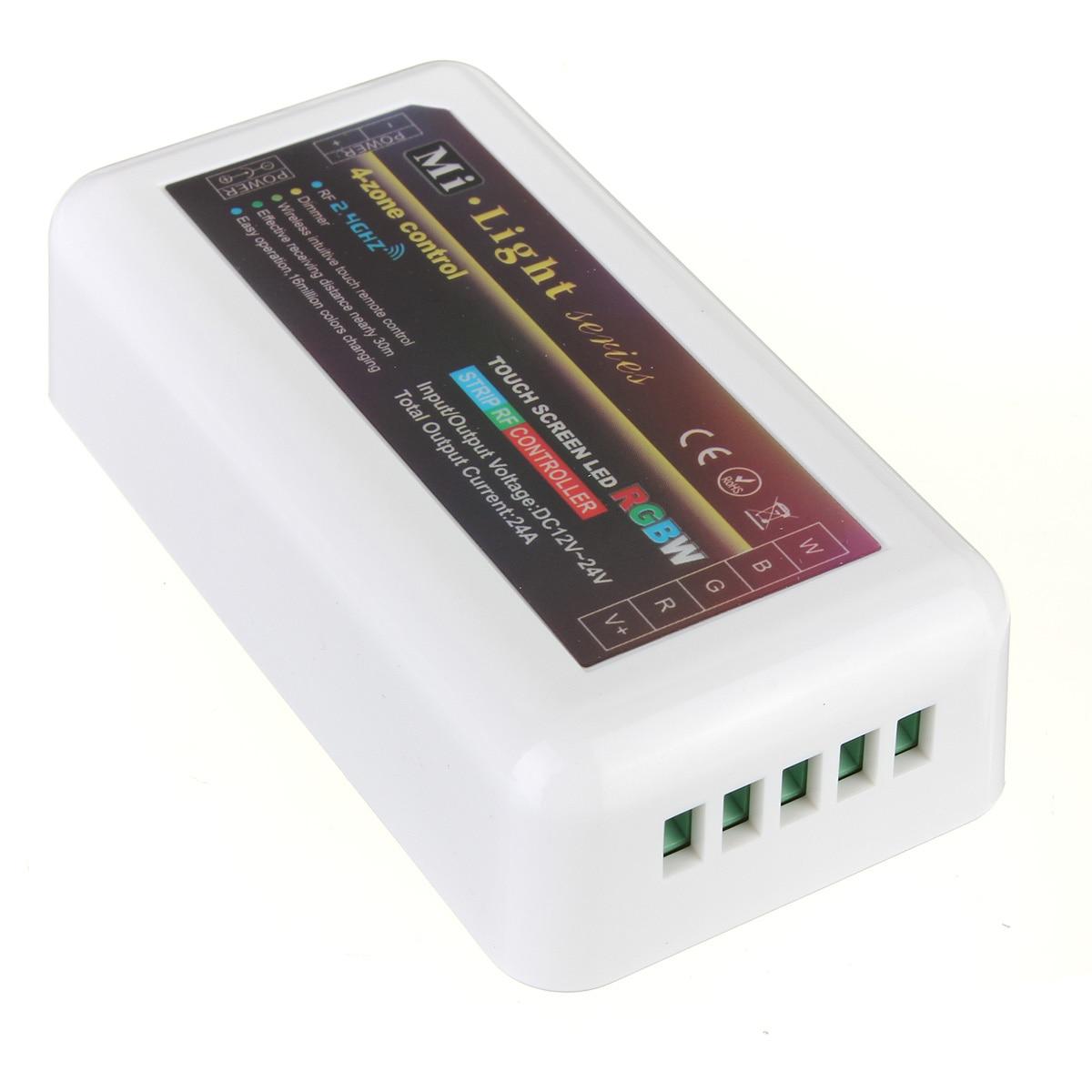 Smuxi 2,4G inalámbrico Mi luz remoto RF 4-zona WiFi RGBW WW/CW RGB controlador de tira led