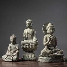 Statue de bouddha 3 Stryle en résine   Sakyamuni Tathagata, Figurine en résine inde tête de bouddha, Statue de jardin maison, artisanat décoratif