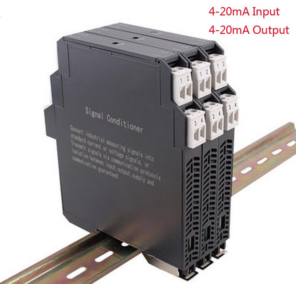 جهاز إرسال إشارة معزول بدون مصدر طاقة ، 4-20mA إخراج متكامل 4-20mA ، عازل إشارة din 4-20mA ، مكيف إشارة