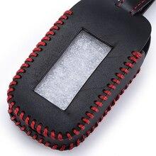 Starline B92-étuis à clés   En cuir cousu à la main, housse avec porte-clés pour StarLine B92 B62 B64 B95, télécommande dalarme de voiture