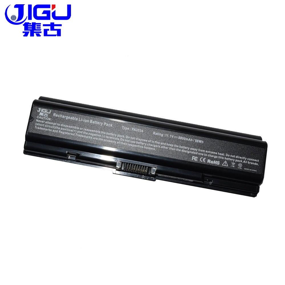 JIGU batería para Toshiba Satellite A500 L200 L203 L500 L505 L555 M205 M207 M211 M216 M212 Pro A210 L300D L450 A200 L300 L550