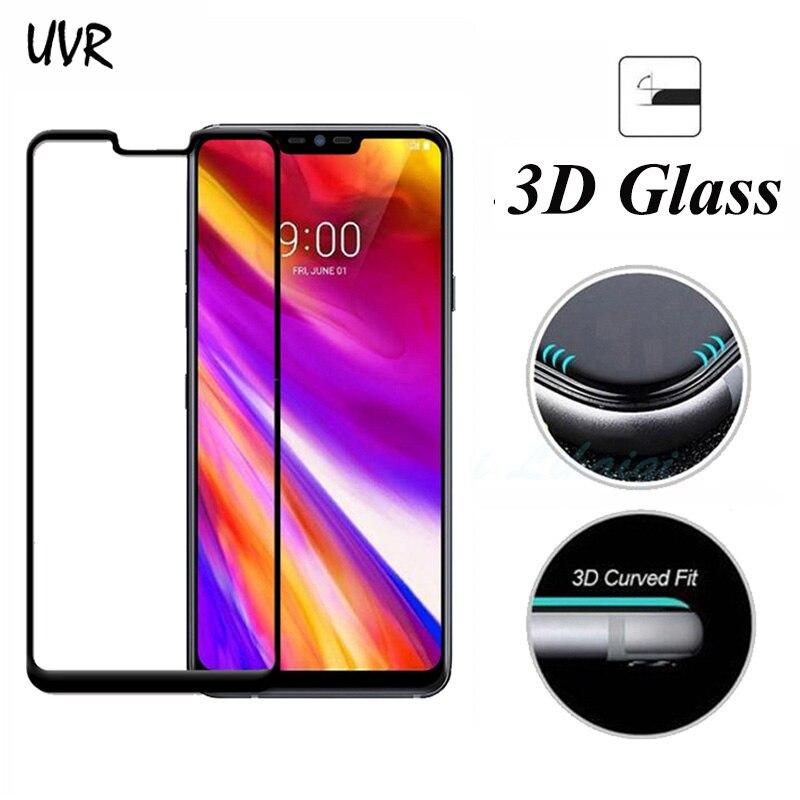 UVR, funda completa templada 3D de cristal para LG G7 ThinQ G7ThinQ, película protectora de pantalla para LG G7 ThinQ, vidrio Protector vidrio templado