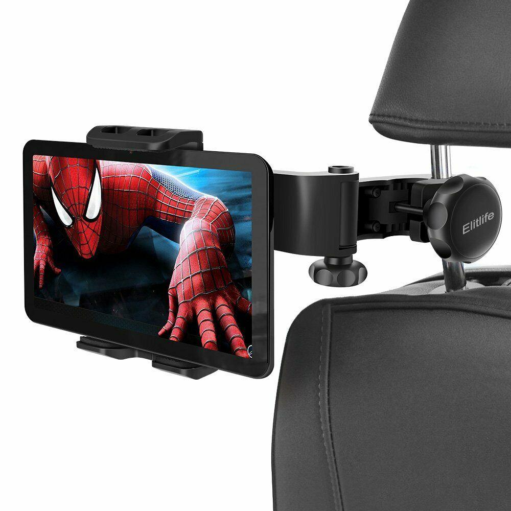 Soporte de teléfono ajustable para reposacabezas de coche para iPad iphone 4-12 pulgadas Tablets soporte de asiento trasero tableta asiento de coche mini Mesa de FS