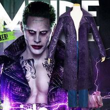 Halloween Jared Leto Joker manteau veste pantalon tenue Cosplay déguisement Suicide escouade Trench
