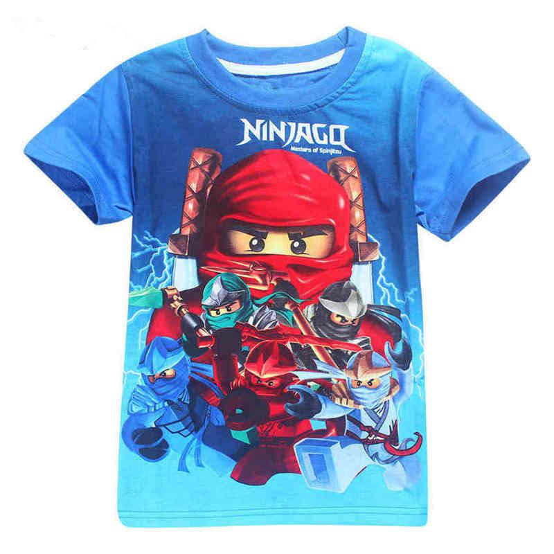 Camisetas Ninja Boys 2019 verano Ninjago camisetas para niñas camiseta Ninjago traje niños ropa niños Top Tees 4-10y