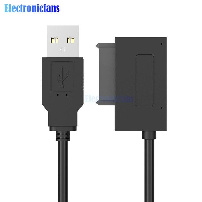 Оптический адаптер с USB 2,0 на 7 + 6 13Pin Slimline SATA для ноутбука, CD/DVD Rom, кабель-1 шт.