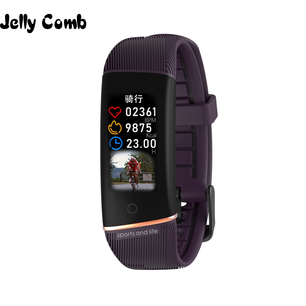 Comb Jelly, pulsera deportiva inteligente para hombre, Monitor de ritmo cardíaco, banda inteligente a prueba de agua IP67, Smartband para mujer, reloj para iOS