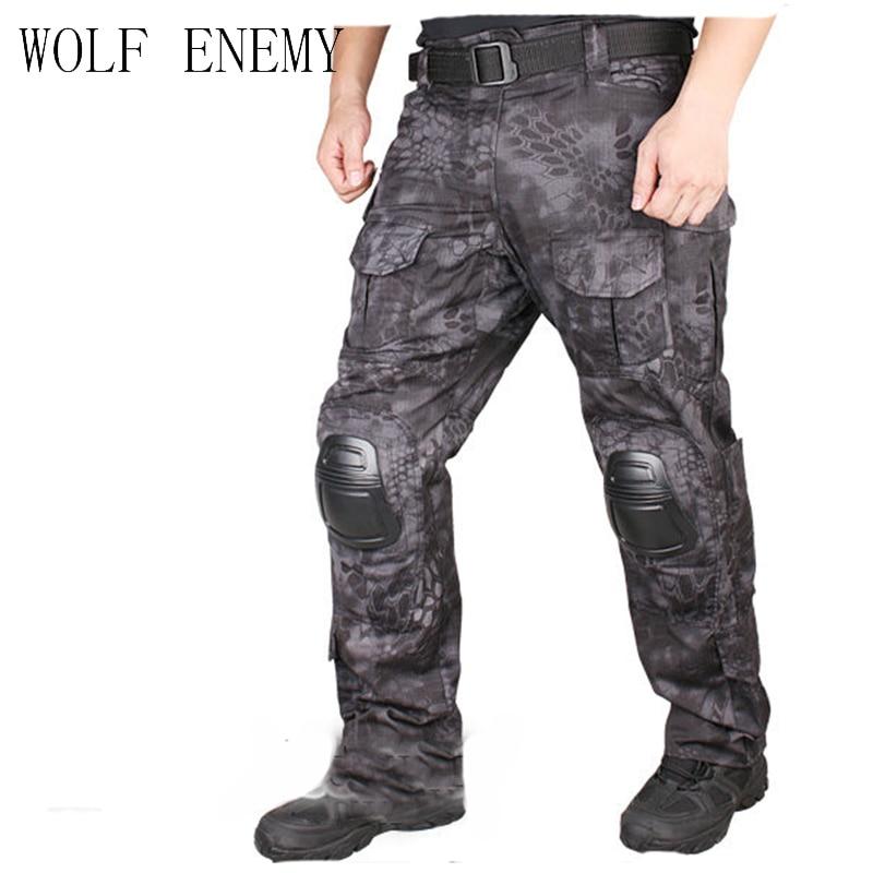 Kryptek tactique bdu Gen2 pantalon de Combat armée militaire camouflage pantalon avec genouillère