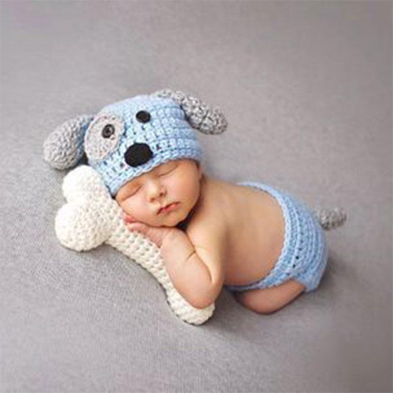 pigeon newborn pure travel set New!Newborn Baby Clothes Set Animal Baby Boy Accessories Newborn Photography Props Pure Hand-knit High Quality Handmade Baby Hat
