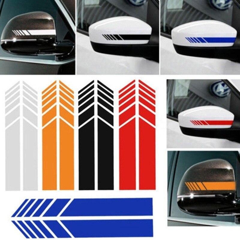 Adesivo retrovisor de carro refletivo, 2 peças, adesivos de decalque, retrovisor de carro, decoração, acessórios para carro