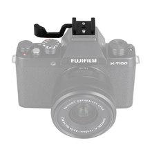 Mcoplus poignée en métal noir avec support de chaussure chaude pour Fujifilm Fuji Sony Olympus Leica NEX6 A6000 A6300 A6500 X-E3 X100S X10