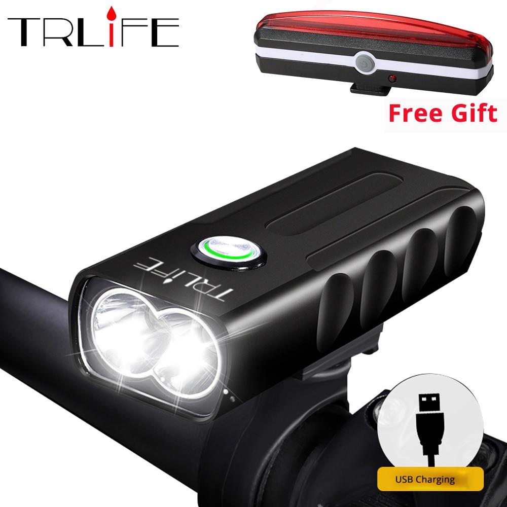 10000LM 2*2/T6 USB Aufladbare Eingebaute Batterie Fahrrad Licht Wasserdichte Scheinwerfer Bike Zubehör Senden Geschenk Rücklicht