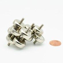 Aimants de Garage   Diamètre de Garage, 16mm 6KG aimants de Pot de traction avec filetage masculin extérieur néodyme NdFeB porte-poteau 6-12 pièces