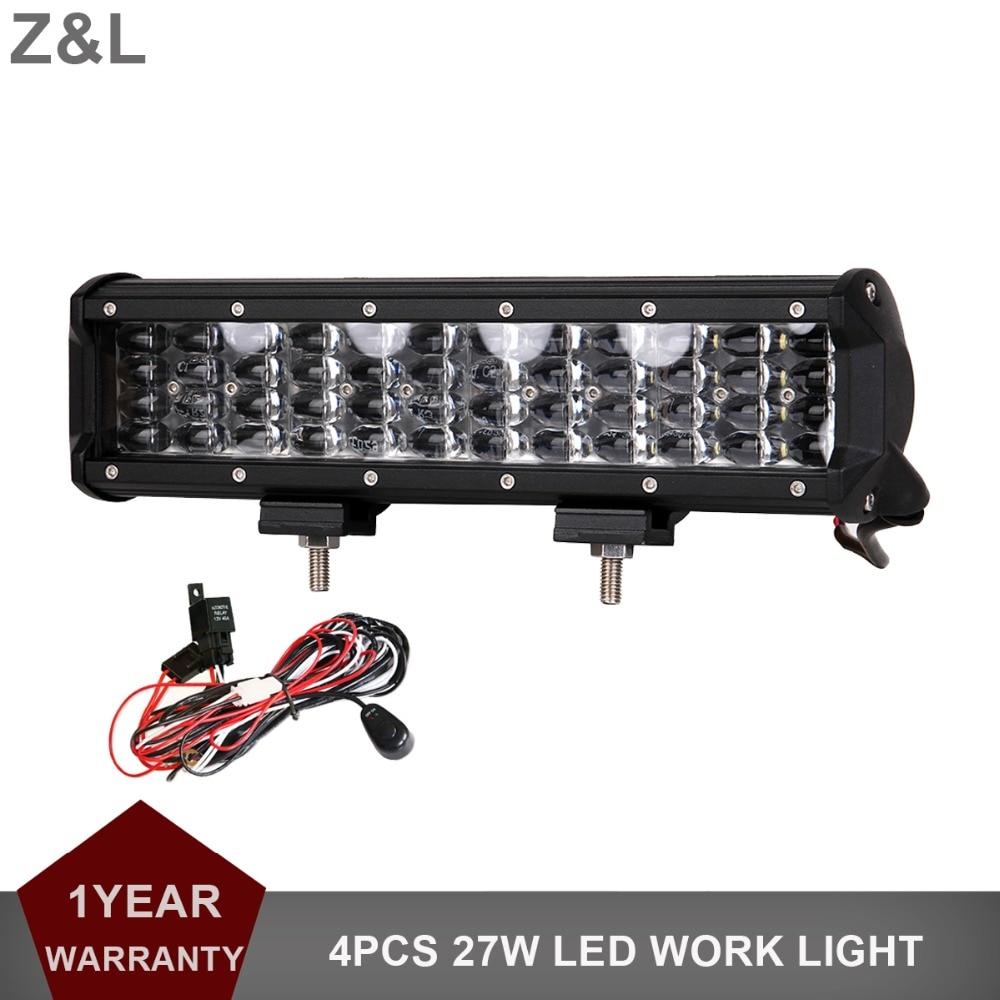 12 INCH Offroad LED Work Light Bar 144W SUV CAR TRUCK BOAT WAGON PICKUP TRAILER TRACTOR 4WD 12V 24V INDICATOR DRIVING HEADLIGHT