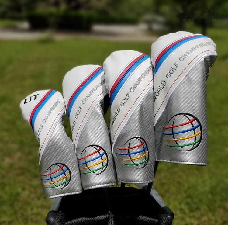 WGC Golf juegos completos íntegras 135UT conductor Fairway bosque híbrido PU Golf cubiertas para hombre mujer
