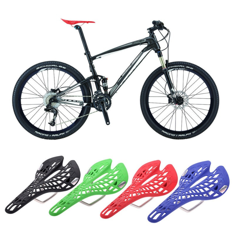 MTB bicicleta de montaña, bicicleta de carretera, asiento con orificio, asiento ergonómico MTB, piñón fijo, asientos ultraligeros, cojín, piezas de bicicleta