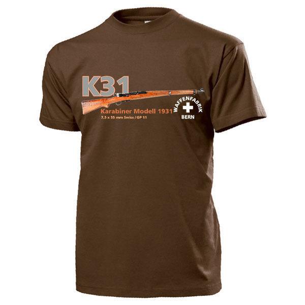 Camiseta de moda 2019 para hombres, envío gratis, K31 Karabiner Modell 1931 Waffenfabrik Bern Schweiz W + F waffen-t Shirt The Who
