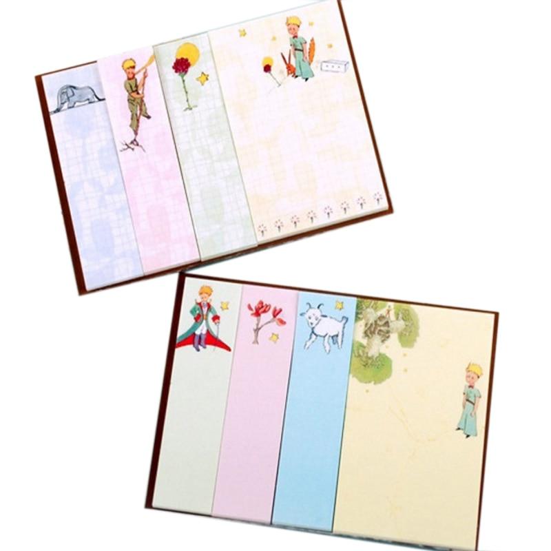 20 pack/lote Kawaii coreano Principito cabra elefante Plan semanal Notas Adhesivas Bloc de notas útiles escolares planificador pegatinas de papel