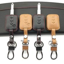 Für Nissan Navara Qashqai Micra Almera 2 / 3 Tasten Top schicht Leder Auto Schlüssel Abdeckung Fall Fob Fern qualität Schützen Shell