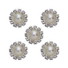 10pcs/lot 17.5mm Dia Rhinestone Ivory Color Imitation Flatback Pearl Beads fit for DIY Jewelry F3115
