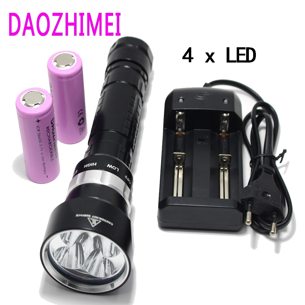 led diving waterproof lights dx4s xm l2 u2 3200lm led diving flashlight torch brightness waterproof 100m white light led torch DX4 (upgraded from DX4S) XM-L U2 LED diving flashlight torch brightness waterproof 100m white light led torch