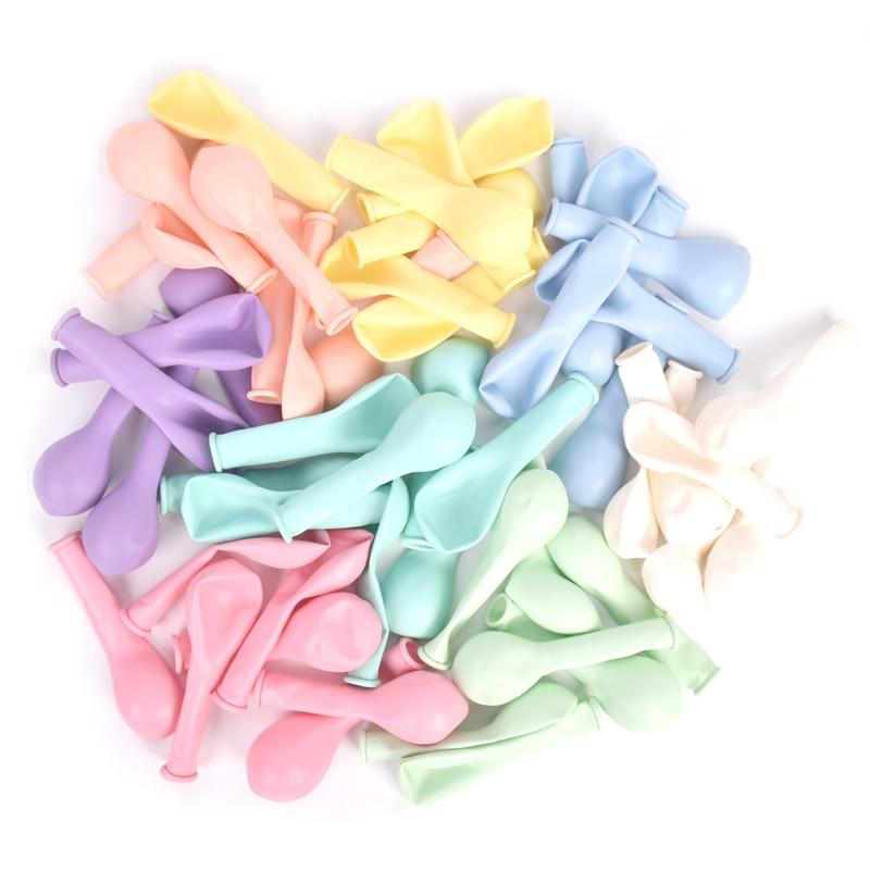 30 шт. 5-дюймовые разноцветные пастельные фотогелиевые баллончики для дня рождения