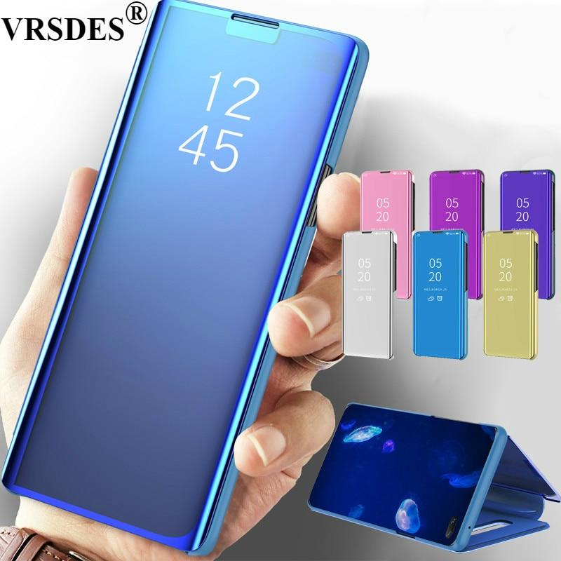 Para Samsung Galaxy S10 5G S10 Plus S10e A30 A50 A70, funda de lujo con espejo abatible para S10 5g M20 M30 A7 A8 A9 2018, funda con soporte
