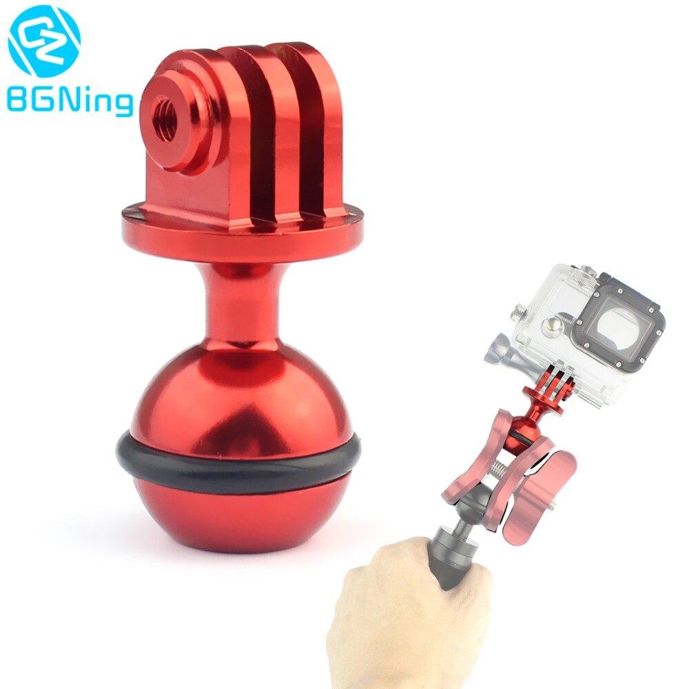 CNC 1 дюймов шаровая Головка для штатива с адаптером, держатель для штатива с 3/8 винтовым отверстием для спортивной камеры Gopro Hero 7 6 5 4 Yi SJCam