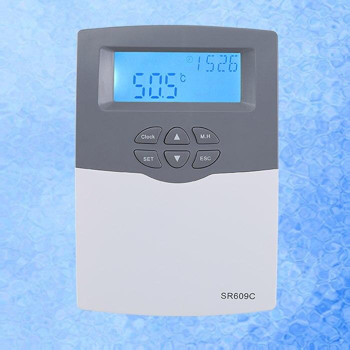 Controlador de calentador de agua Solar SR609C para sistema presurizado compacto con H1 de 20a y 3000W con Sensor de bolsillo