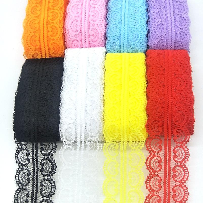 Hermosa cinta de lazo de 10 yardas 46MM de ancho, corte DIY, artesanía, cordón bordado, decoración de costura, vestido africano, tela de encaje