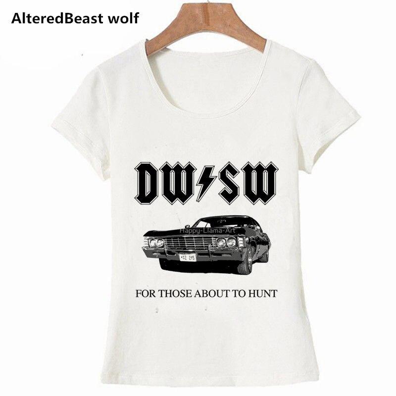 2019 Summer Casual Supernatural Women T Shirt Harajuku Short Sleeve Top Tees women O Neck Casual T-shirts