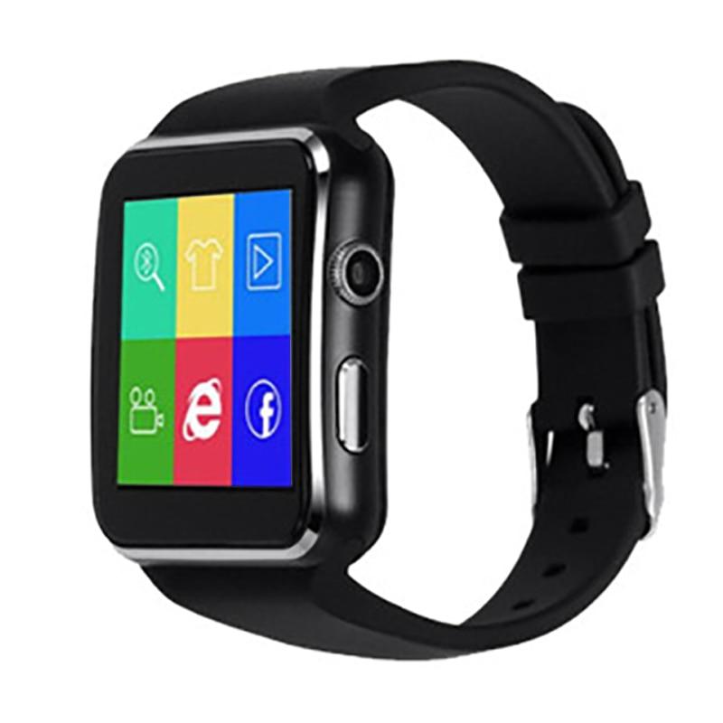 Reloj inteligente ABGN con Bluetooth X6, reloj inteligente deportivo con cámara compatible con tarjeta SIM, Whatsapp, Facebook, para teléfono Android