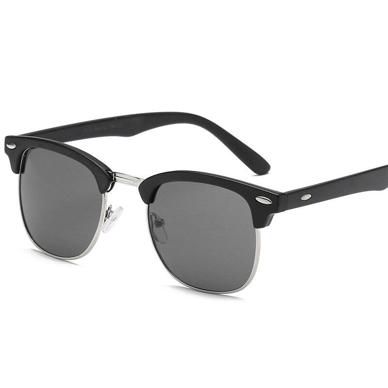 Classic Brand Sunglasses Men Women Half Metal Mirror Unisex Sun Glasses De Sol UV400