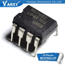 10PCS MCP602-I/P DIP8 MCP602 DIP DIP8 2.7V to 5.5V Single Supply CMOS Op Amps