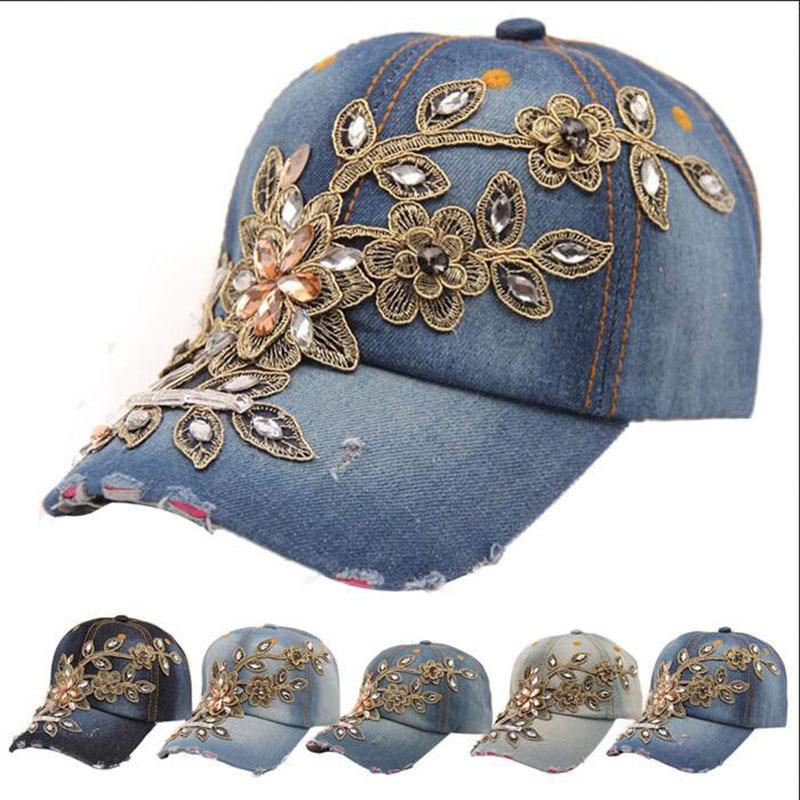Handmade washed do old cowboy baseball cap Female fashion leisure snapback hat accessories Punk Fashion gorras Denim hip hop cap