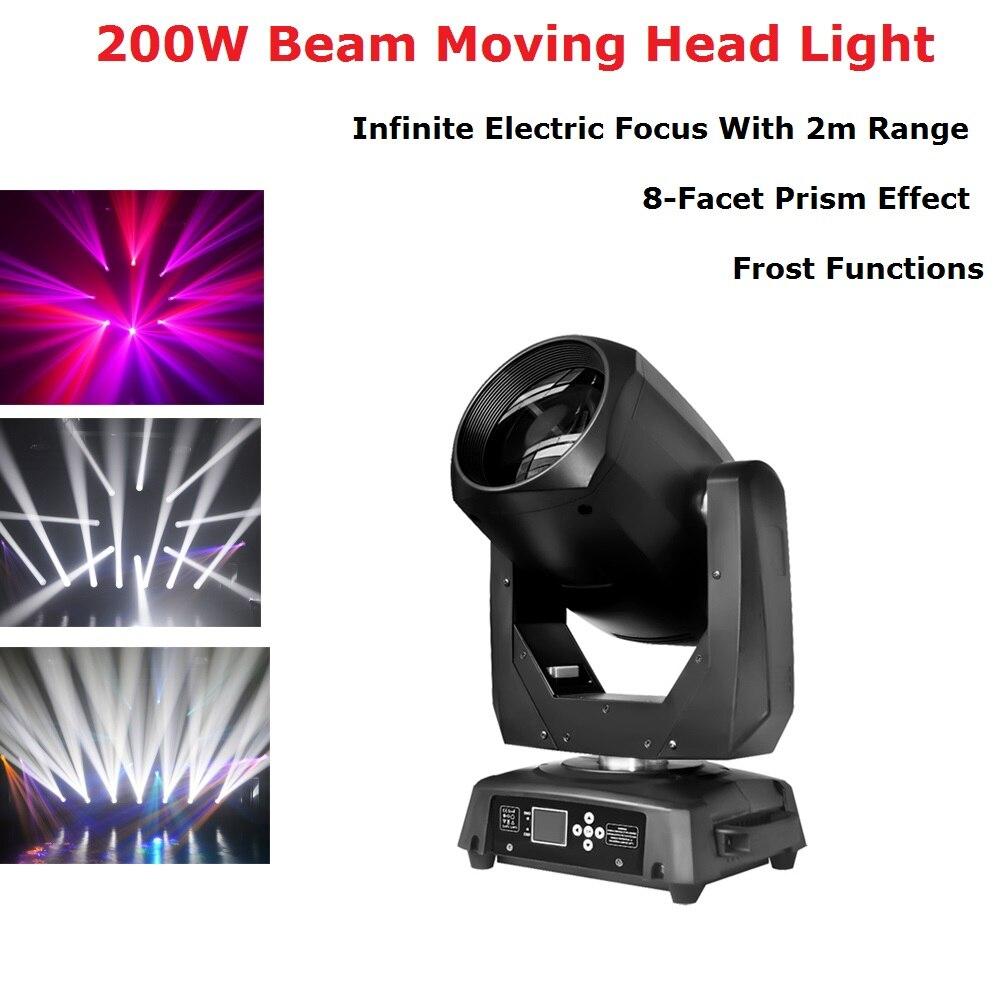 مصباح رأس متحرك LED 200 وات ، شعاع ضوء ، حفلة ، DJ ، مسرح ، ملهى ليلي ، رأس متحرك ، وحدة تحكم Dj