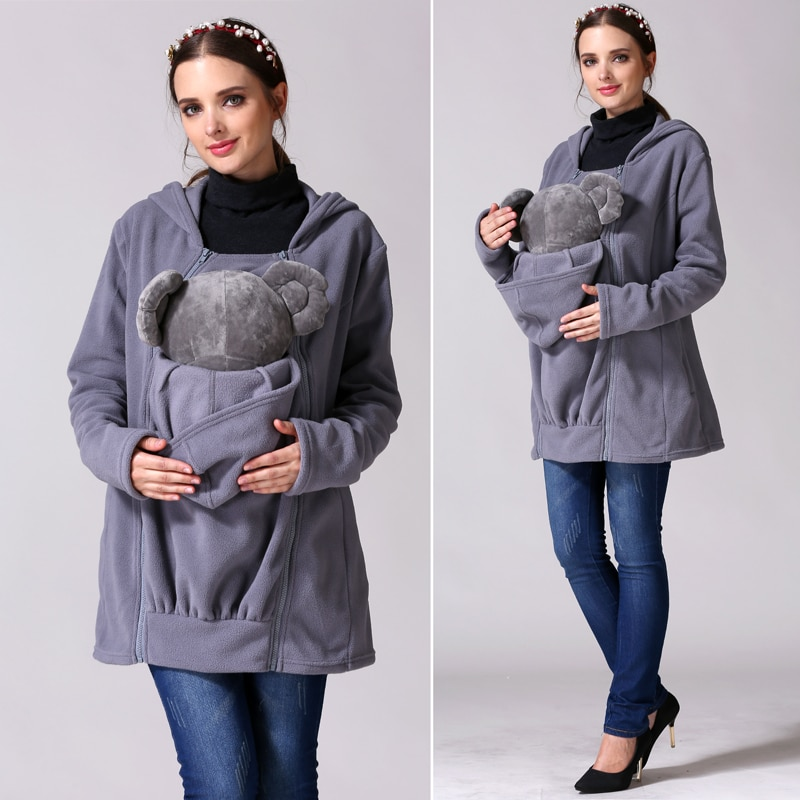 Emotion Moms Winter Breastfeeding Nursing tops Multi Function Maternity Coat Kangaroo coat for Pregnant Jacket Maternity Clothes enlarge