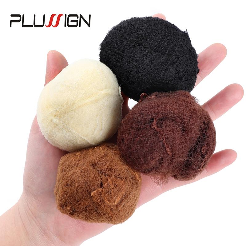 Gran oferta Plussign 20 piezas cuatro colores 5Mm agujero suave redecillas de nailon negro marrón café oscuro Beige Color Invisible disposable Net